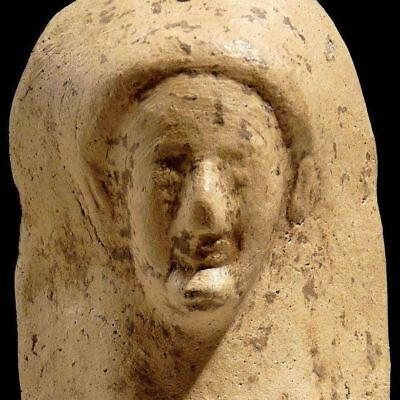Authentic GREEK Pottery Kore Demeter Female Ancient Protome 525 BC INTACT