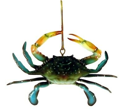Dimensional Coastal Maryland Blue Crab Christmas Ornament 4 Inches