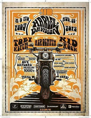 Harley-Davidson 110th Anniversary Milwaukee Rally Poster - HD Commemorative