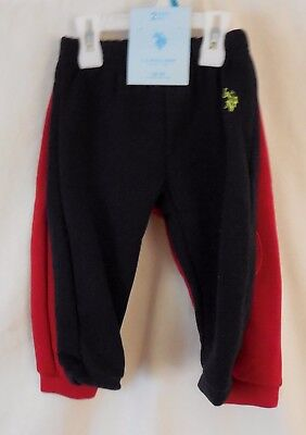 Toddler Sweat Pants, 2 Pair, U.S, Polo Assn. Red and Blue,12 & 18 Month. NWT
