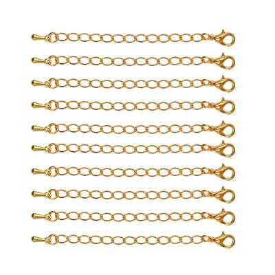 10 Pcs 70 mm Jewelry Findings 70 mm Extension Chain for Necklaces Bracelets