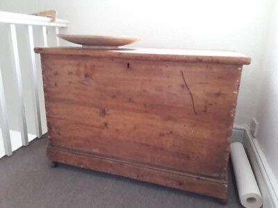 Dutch Pine Bedding Box Victorian rustic Bedroom Storage Beautiful !