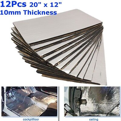 12 Sheets Closed Cell Foam Sound Proofing Deadening Vehicle Car Insulat 10mm UK