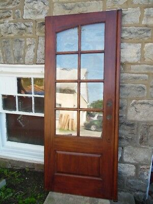 "32"" X 79"" Solid Wood Exterior Grade French Door Eight Light Glass Local PICK UP"