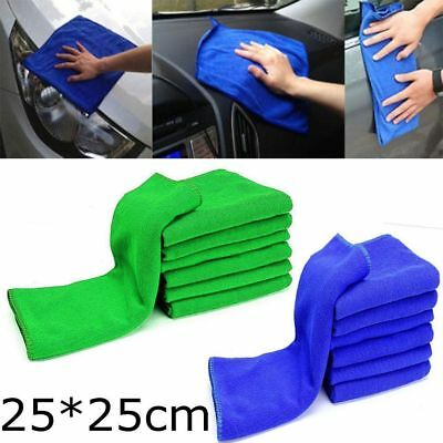 5-10x LARGE MICROFIBRE CLEANING AUTO CAR DETAILING SOFT CLOTHS WASH TOWEL DUSTER
