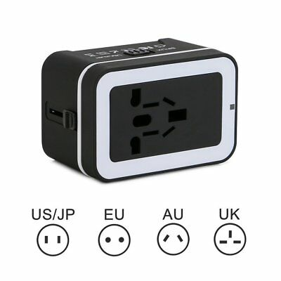 Universal Travel Adapter Converter Wall Charger USB AC Power Plug US UK AU EU