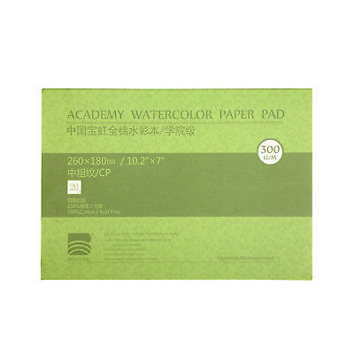 """MEEDEN 5X7"""" Cotton Watercolor Paper Textured Surface Cold Press 140lb/300gsm New"""