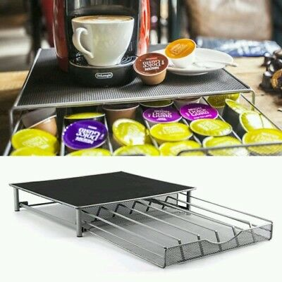 Coffee Machine Stand & Capsule Pod Storage Holder Drawer Nespresso Gusto