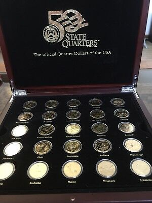 Treasury Of USA 50 State Quarters (coins) with Authenticity Certificates