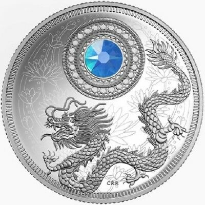 2016 $5 Birthstones March 99.99% -1/2oz Silver Proof Coin - Royal Canadian Mint