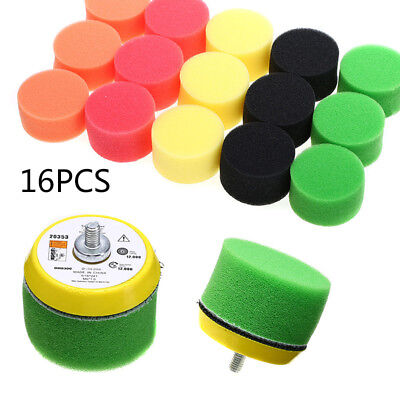 16pk 2 Inch Flat Polishing Buff Pad Set For Air Sander Polisher With 1xm6 Thread