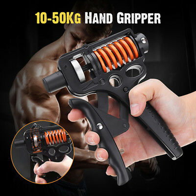 10-50kg Hand Grip Strengthener Strength Trainer Adjustable Therapy Grippers