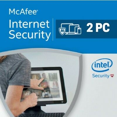 McAfee Internet Security 2019 2 dispositivos 2 PC 1 año 2018 EU / ES