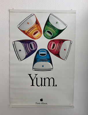 "Original APPLE iMac ""YUM"" Introduction Banner (LKW Plane) 1999 Poster / RAR!"