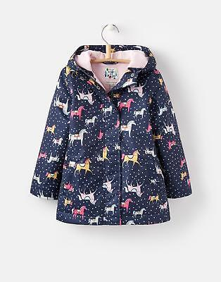Joules 124621 Meriweather Girls Coat with Zip and Popper Fastening in Horse