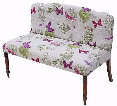 Antique quality Victorian and later mahogany small sofa seat window seat