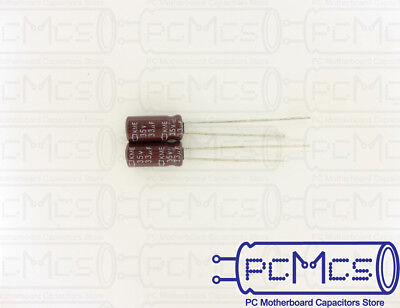 40 Nippon ChemiCon NCC KMA Series 16V 47UF Made in Japan Low Profile Capacitor