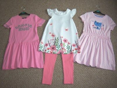 """BNWT 5-6 YRS GIRLS """"GEORGE"""" TOP & LEGGINGS OUTFIT / DRESS BUNDLE (next day post)"""