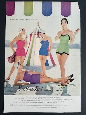 Vintage Rose Marie Reid women's jewels of the sea swimsuits swimwear ad
