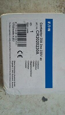 Eaton CR2020230A  AC 20A Amp 2 N/O 230V 2 Pole Single Module Contactor * NEW *