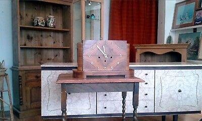 Art-Deco Antique Mantle Clock-Large, Westminster Chime Lovely Patina; .- Pics