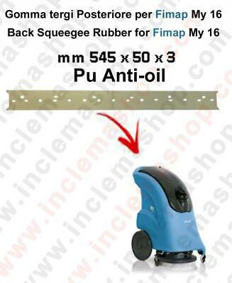 My 16 Back Squeegee rubber polyurethane anti oil for scrubber dryer e scrubber d