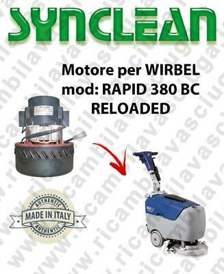 RAPID 380 BC RELOADED Vacuum motor Synclean for scrubber dryer WIRBEL