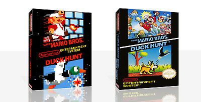 Super Mario Bros.  Duck Hunt NES Spare Game Case Box + Cover Art Work (No Game)