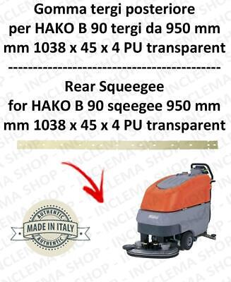 B 90 ( squeegee lenght950 mm) squeegee rubber back for scrubber dryer  HAKO-2