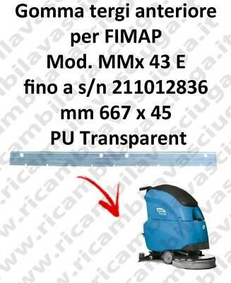 MMx 43 E till s/n 211012836 Front Squeegee rubber for FIMAP accessories, reaplac