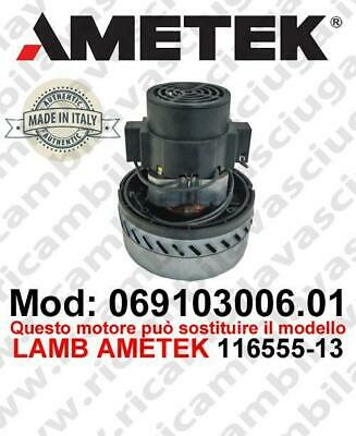 Vacuum motor 069103006.01 AMETEK ITALIA for scrubber dryer ,can replace the mode