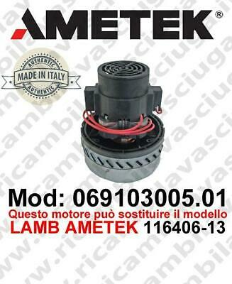 Vacuum motor 069103005.01 AMETEK ITALIA for scrubber dryer ,can replace the mode