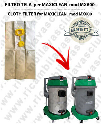 Sacco carta litres 19 with plug for MAXICLEAN mod MX 600 conf. 10 pieces - vacuu