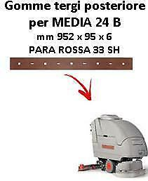 MEDIA 24  Back Squeegee rubber Comac