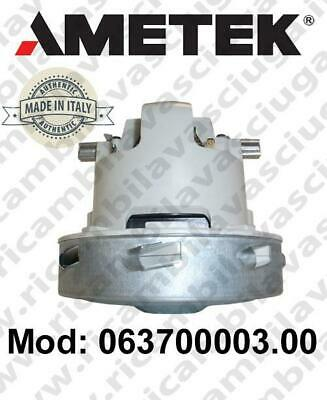 Vacuum motor 063700003.00 AMETEK ITALIA for scrubber dryer and vacuum cleaner