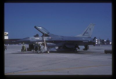 Original 35mm slide New Jersey ANG F-16A 80-585, 177th FIG, 1989