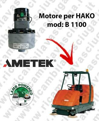 B 1100 LAMB AMETEK vacuum motor for scrubber dryer HAKO