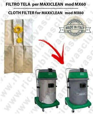 Sacco carta litres 19 with plug for MAXICLEAN mod MX 60 conf. 10 pieces - vacuum