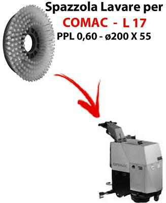 Cleaning Brush for scrubber dryer COMAC L 17 . Model: PPL 0,6 - ⌀200 X 55 mm -