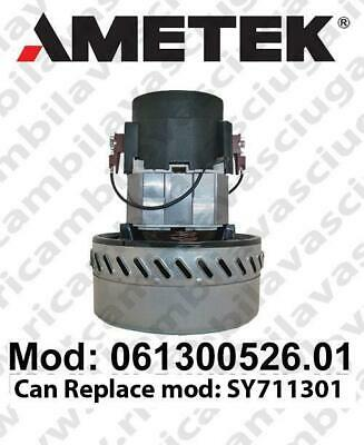 Vacuum motor 061300526.01 AMETEK for scrubber dryer and vacuum cleaner