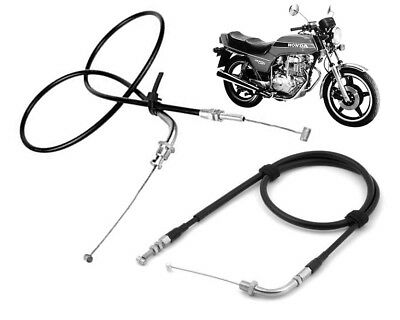 Set of Throttle Cable Cables Honda CB250N Superdream 1979-1982 (Pull A + Push B)