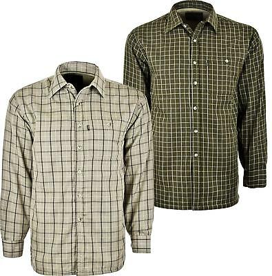 Mens Champion Sherborne WarmChecked Micro Fleece Lined Padded Check Winter Shirt