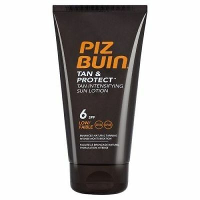 Piz Buin Tan and Protect Intensifying Sun Lotion SPF6 150ml - Buy 1, 2 or 3