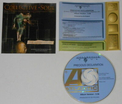 Collective Soul  Precious Declaration  U.S. promo cd  hard-to-find