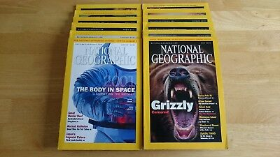 National Geographic magazines - 2001 complete