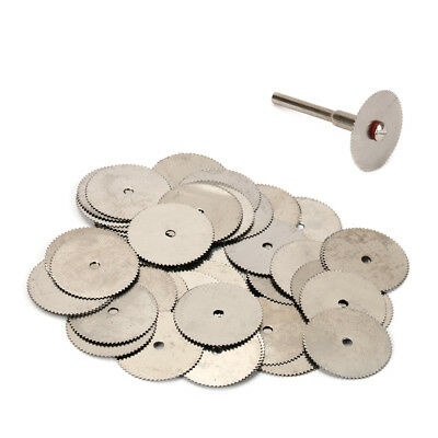 20Pc Stainless Steel Wood Cutting Wheel Saw Blade Disc Rotary Tool 2pc Mandrel
