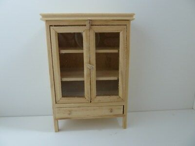Dolls House Miniature 1:12th Scale Furniture Kitchen Pine Cupboard Meat Safe