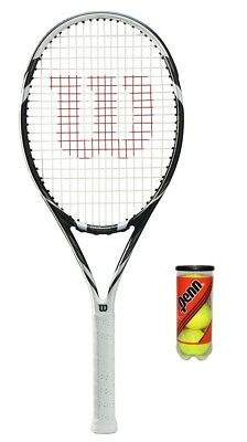 Wilson Six Two BLX Black Tennis Racket + 3 Tennis Balls RRP £120