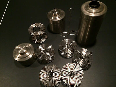 Three Stainless Steel Developing Tanks with Six Reels.   Japan made.