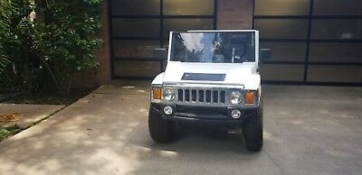 White 2007 ACG Electric Hummer Golf Cart 4 passenger barely used